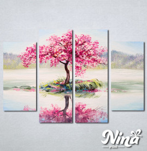 Slike na platnu Roze drvo Nina336_4