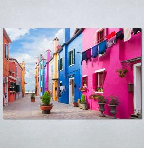Slike na platnu Šarena ulica Nina30137_P