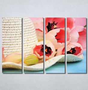 Slike na platnu Šešir i cveće Nina30299_4