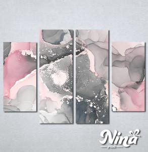 Slike na platnu Sivo roze apstrakcija Nina334_4
