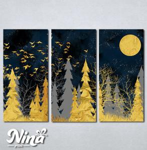 Slike na platnu Šuma apstraktno Nina289_3