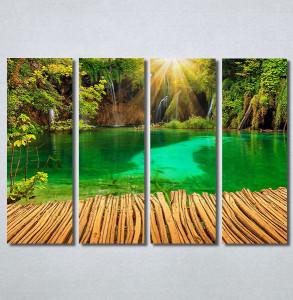 Slike na platnu Tirkizno jezero Nina30378_4