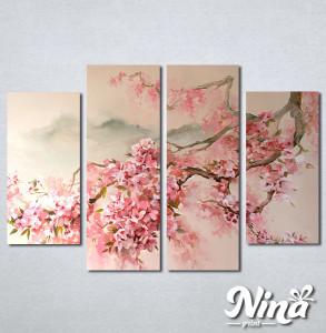 Slike na platnu Tresnjin cvet apstrakcija Nina344_4