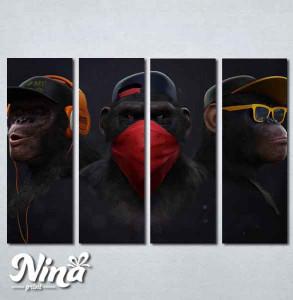Slike na platnu Tri majmuna Nina255_4