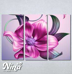 Slike na platnu Veliki roze cvet Nina270_3