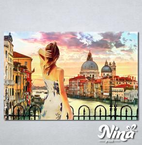 Slike na platnu Venecija kanal Grande Nina317_P