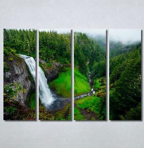Slike na platnu Vodopad priroda Nina30323_4