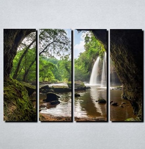 Slike na platnu Vodopad u steni Nina144_4
