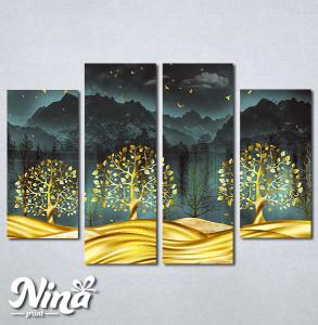 Slike na platnu Zlatno drvece Nina332_4