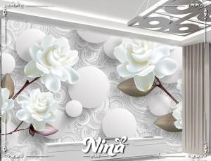 Foto tapet Elegantni beli cvet Tapet264