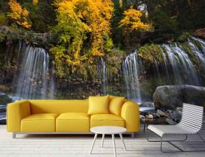Foto tapeta Vodopad na jesen Tapet181