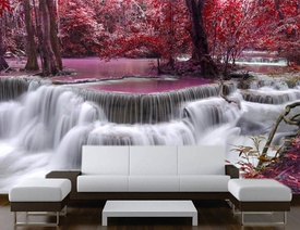Foto tapeta Vodopad u prirodi Tapet047