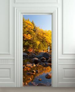 Nalepnica za vrata Jesenje boje 6152