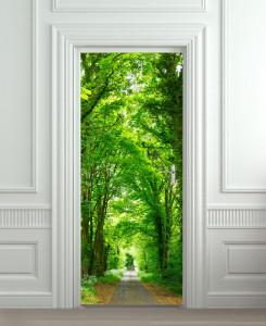 Nalepnica za vrata Zeleni drvored 6129