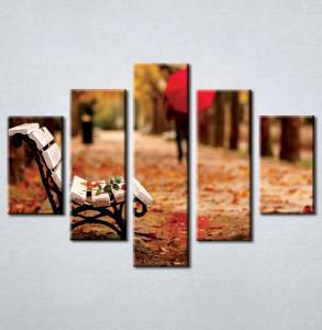 Slika na platnu Klupa u parku 3001_ 5