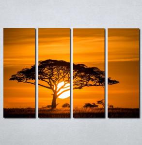 Slike na platnu Afrika zalazak sunca Nina077_4