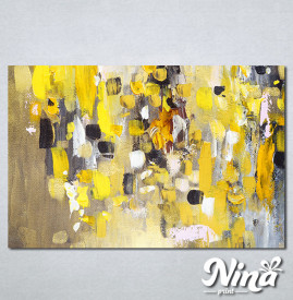 Slike na platnu Apstrakcija žuto Nina306_P
