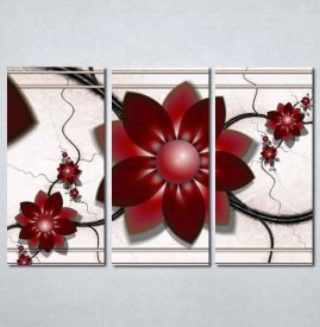 Slike na platnu Apstraktni bordo cvet Nina198_3