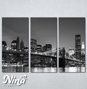 Slike na platnu Bruklinski most noću Nina281_3