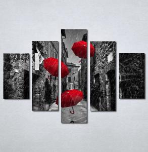 Slike na platnu Crveni kisobran Nina209_5