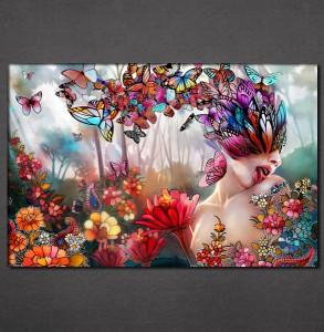 Slike na platnu Cveće i leptiri Nina3092_P