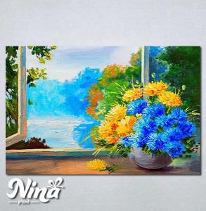 Slike na platnu Cveće na prozoru Nina256_P
