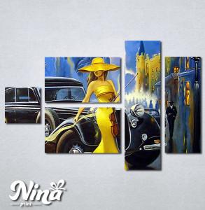 Slike na platnu Dama u žutom i violina Nina290_5
