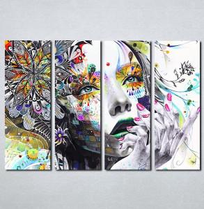 Slike na platnu Devojka boje apstraktno Nina086_4