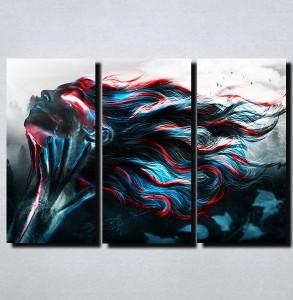 Slike na platnu Devojka duge kose Apstraktno Nina165_3