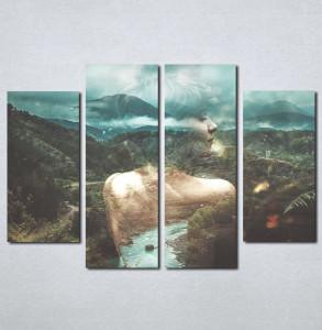 Slike na platnu Devojka i priroda Nina013_4