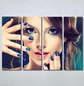 Slike na platnu Devojka sa plavim noktima Nina30364_4