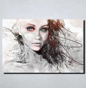 Slike na platnu Devojka sa plavim ocima Nina157_P