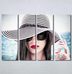 Slike na platnu Devojka sa šeširom Nina30365_4