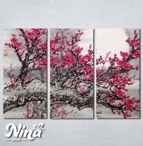 Slike na platnu Drvo roze cvet Nina234_3