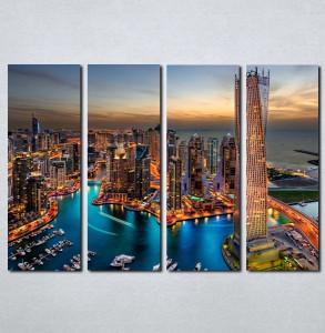 Slike na platnu Dubai nocu Nina051_4
