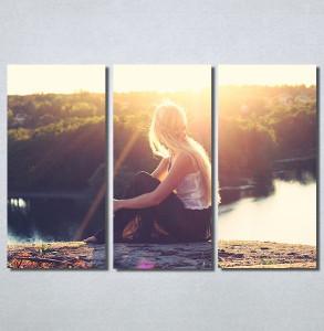Slike na platnu Girl and sunset Nina30168_3