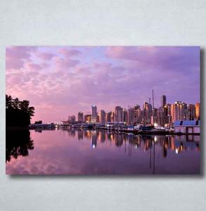 Slike na platnu Grad i noć Nina092_P