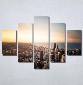 Slike na platnu Grad i zalazak sunca Nina30162_5