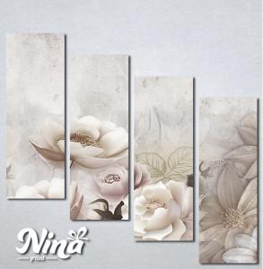 Slike na platnu Krem cvetna bajka Nina333_4