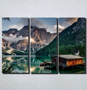 Slike na platnu Kucica na jezeru Nina174_3