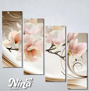 Slike na platnu Magnolija apstrakcija Nina335_4