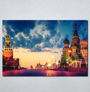 Slike na platnu Moskva Crveni trg Nina049_P
