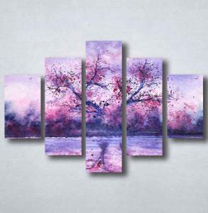 Slike na platnu Naslikano ljubičasto drvo Nina094_5