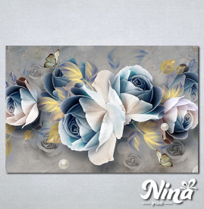 Slike na platnu Pastelno plavi cvet Nina305_P