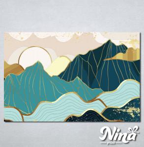 Slike na platnu Planina apstrakcija Nina321_P