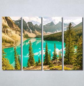 Slike na platnu Planina i jezero Nina30341_4