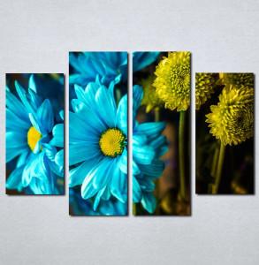Slike na platnu Plavo i žuto cveće Nina075_4