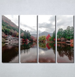 Slike na platnu Pogled na jezero Nina30184_4