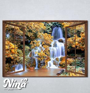 Slike na platnu Prozor ka vodopadu Nina278_P
