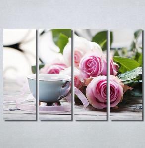 Slike na platnu Ruže i kafa Nina30343_4